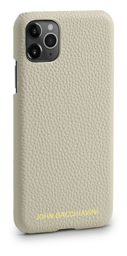 Cannoli Cream Leather iPhone 11 Pro Case
