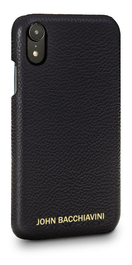 Black Leather iPhone XR Case