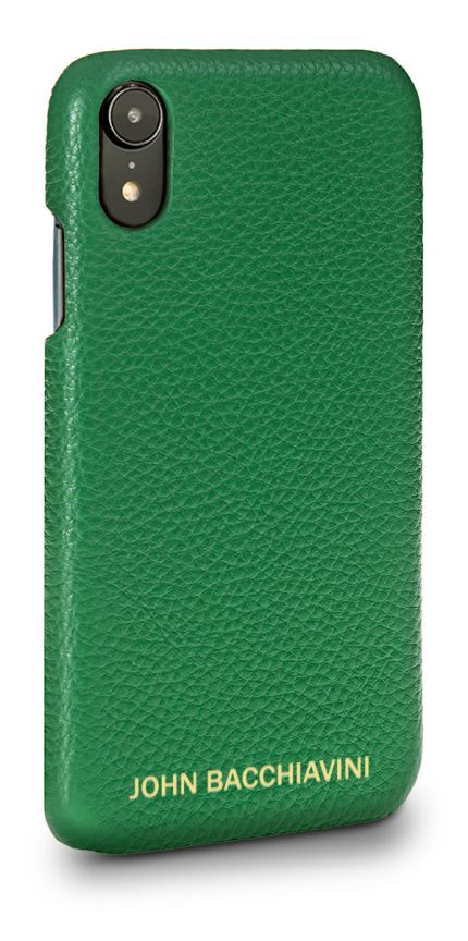 Green Leather iPhone XR Case
