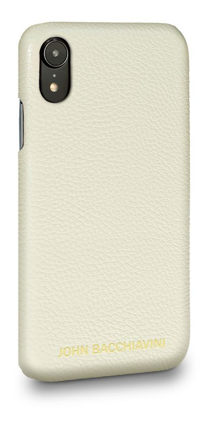Cream Leather iPhone XR Case