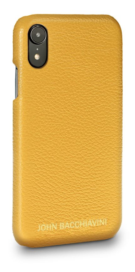 Yellow Leather iPhone XR Case