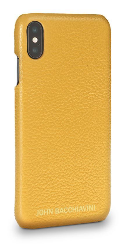 Yellow Leather iPhone XS MAX Case