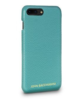 Turquoise Leather iPhone 7/8 Plus Case