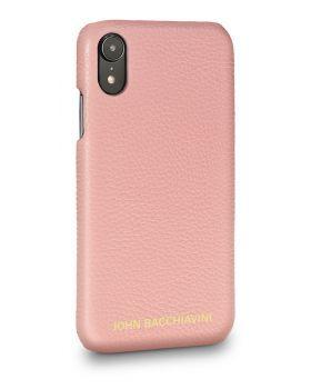 Mandevilla Pink Leather iPhone XR Case