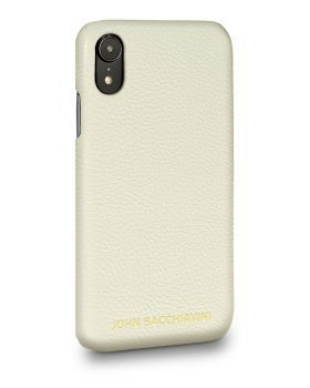Cannoli Cream Leather iPhone XR Case