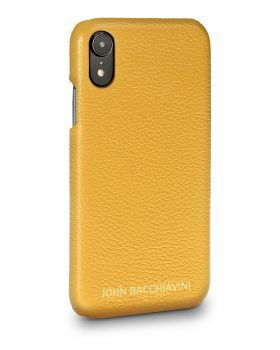 Marigold Yellow Leather iPhone XR Case