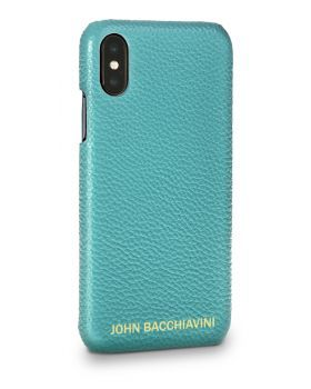 Turquoise Leather iPhone X/XS Case