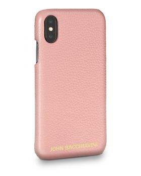 Mandevilla Pink Leather iPhone X/XS Case