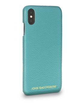 Turquoise Leather iPhone XS MAX Case