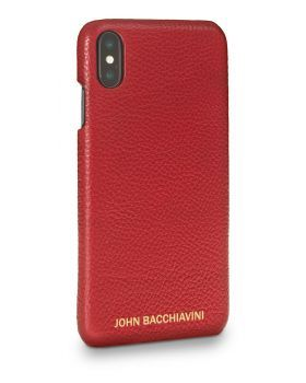 Rafflesia Red Leather iPhone XS MAX Case